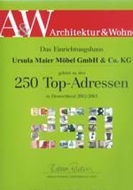 A&W Architektur&Wohnen: Die Top 250 Einrichtungshäuser Deutschlands